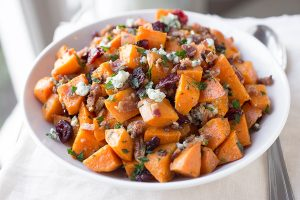 Curried Sweet Potato Salad, with Bacon, Pineapple & Pecans