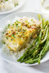 Roasted Halibut with Sweet-and-Sour Onion Jam